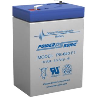PowerSonic PS640-F1, 6v 4.5 Ah loodaccu