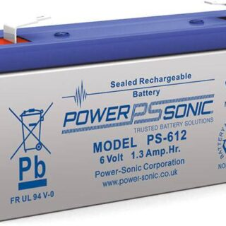 Loodaccu PowerSonic PS-612, 6v 1,2 Ah