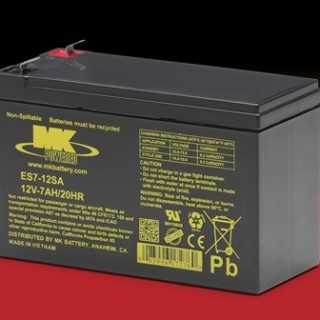 MK Battery. Loodaccu ES7-12SA. Noodstroomaccu 12v 7ah
